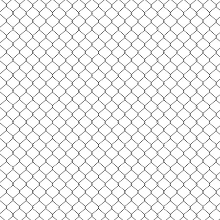 Raster illustration pattern, background steel wire mesh. Grid, wire fence. Wire fencing Stock Photo