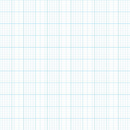 Raster illustration graph plotting grid paper  pattern, texture. Square grid background. Seamless millimeter paper Фото со стока