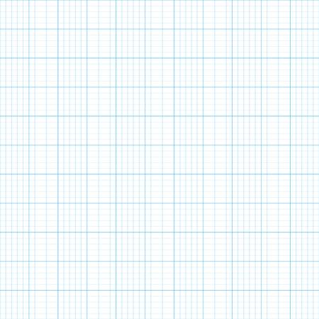Raster illustration graph plotting grid paper  pattern, texture. Square grid background. Seamless millimeter paper Stock Photo