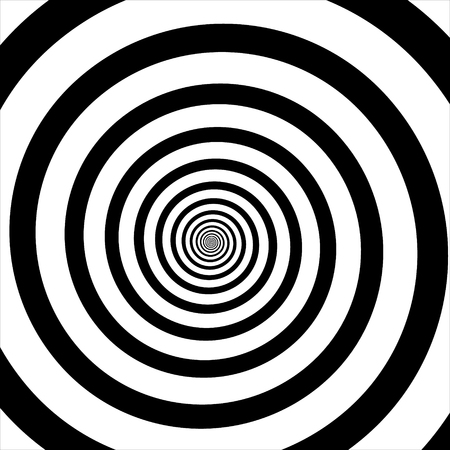 Raster illustration of psychedelic spiral with radial rays, twirl, twisted comic effect, vortex backgrounds. Hypnotic spiral