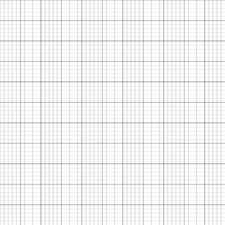 Vector illustration graph plotting grid paper seamless pattern, texture. Square grid background. Seamless millimeter paper Illustration