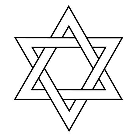 Vektor-Illustration Davidsstern Symbol . Symbol von Israel . Jüdische Zeichen