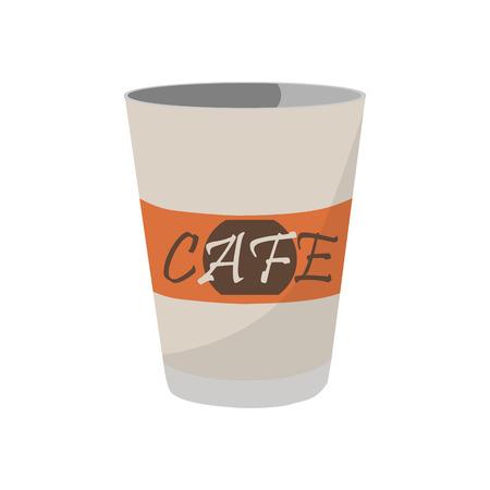 une illustration vectorielle jetable tasse de café icône pour café et restaurant . logo tasse de café