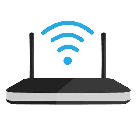 Vector illustration wifi router icon. Wi-Fi symbol
