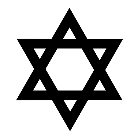 hannukah: Raster illustration star of David icon. Symbol of Israel. Jewish sign