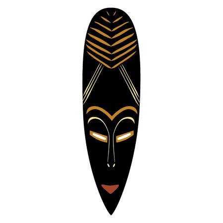 Una maschera africana dell'illustrazione di vettore. Icona maschera tribale. Illustrazione di maschera di totem. Archivio Fotografico - 84066578