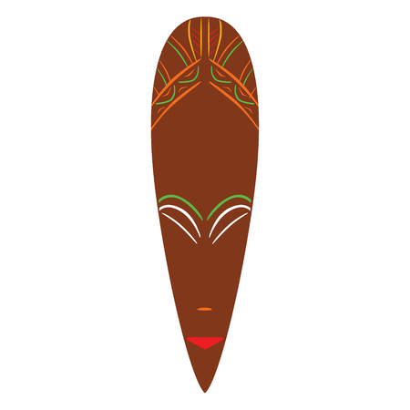 A Vector illustration african mask. Tribal mask icon. Totem mask illustration.
