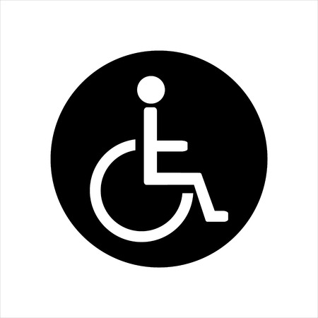 Disabled handicap vector icon. Wheelchair. Disabled parking only. Disabled sign Illustration