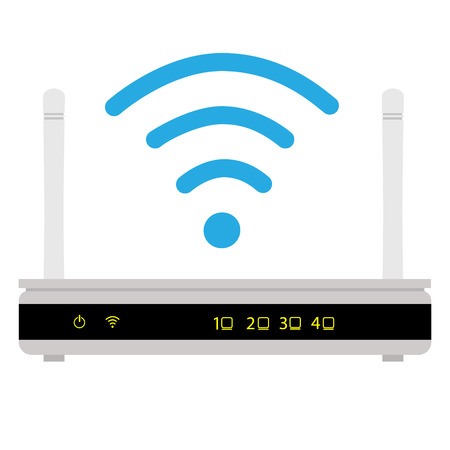 Vector illustration wifi router icon.