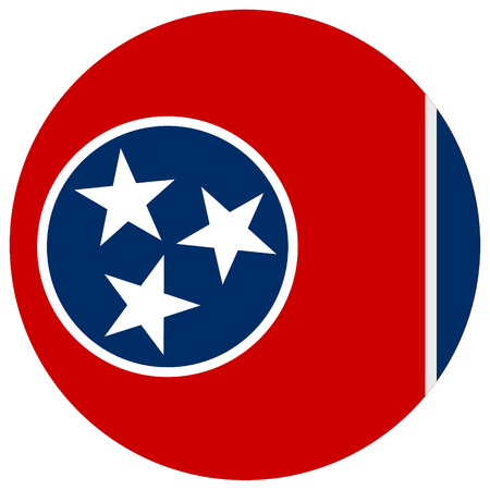 Tennessee state flag icon.