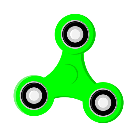 Vector illustration fidget spinner icon. Toy for stress relief and improvement of attention span