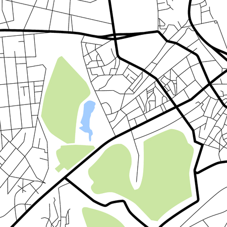 details: Raster illustration city map. Scheme of roads.