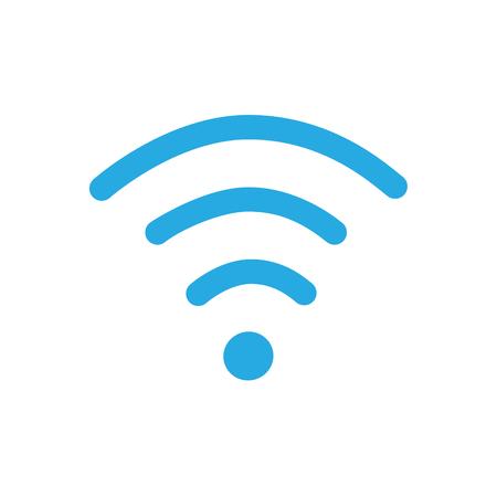 Vector illustration flat design blue wireless icon Illustration
