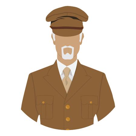 Generale in icona avatar uniforme militare
