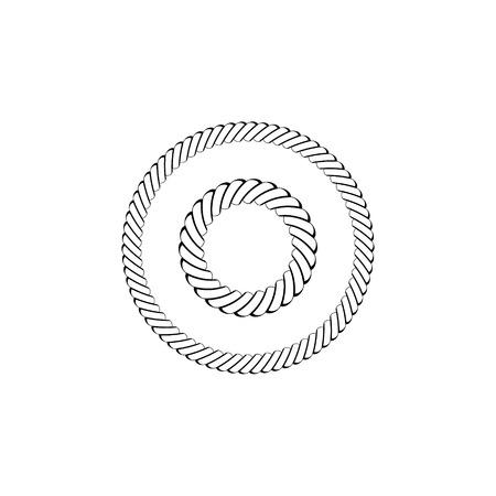 Vector illustration nautical rope knots decorative vintage element 일러스트