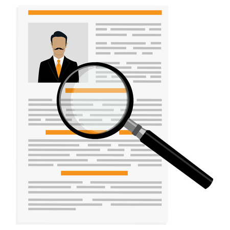 CV or resume design template with man photo.