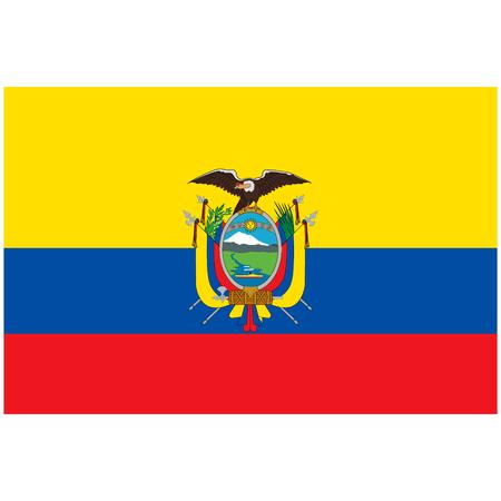 Vector illustration Ecuador flag icon