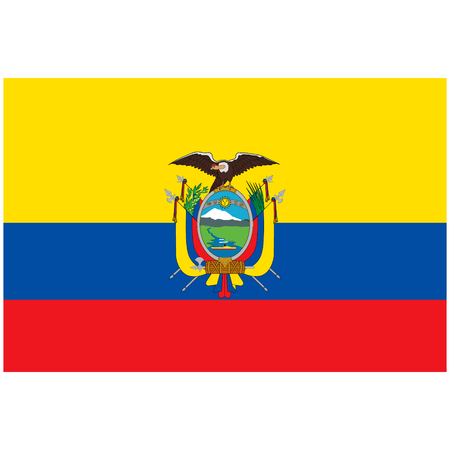 Vector illustration Ecuador flag icon