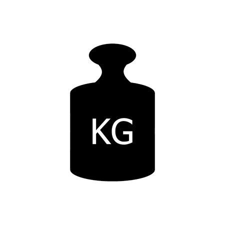 Weight 1 kg icon. Flat illustration of weight 1 kg vector icon for web isolated on white background