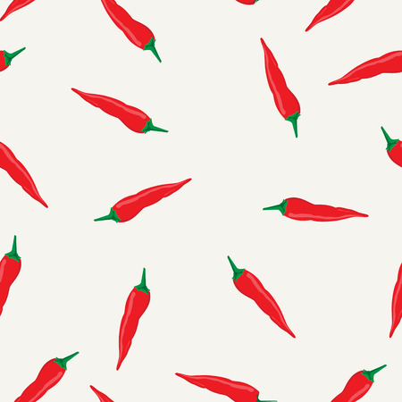 Vector illustration chili peppers seamless pattern, background. Illustration