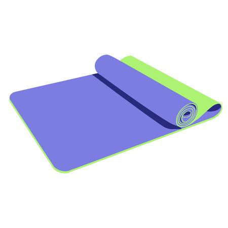Yoga mat, purple yoga mat, yoga mat raster, yoga mat isolated