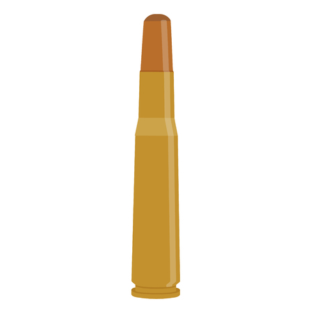 Vector illustration icon bullet caliber isolated on white background. Ammunition