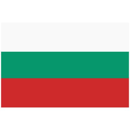 Raster illustration Bulgaria flag icon isolated on white background. Bulgaria flag button