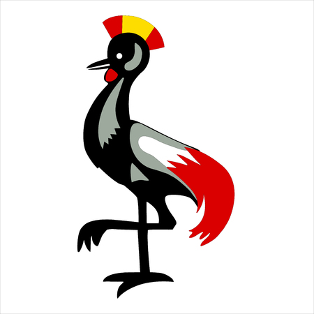 Illustration heraldic rooster illustration.
