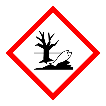 Raster illustration warning sign. Official environmental hazard sign, symbol.  Stock Photo