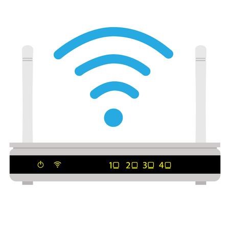 Raster illustration wifi router icon. Wi-Fi symbol