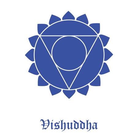 illustration Vishuddha Chakra symbol.
