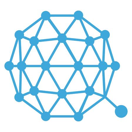 Raster illustration Qtum crypto currency blockchain flat logo isolated on white background.  Stock Photo