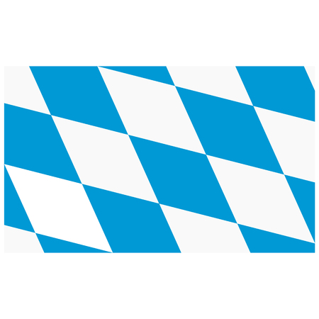 Raster icon flag of Bavaria isolated on white background. Flag federal state of Germany