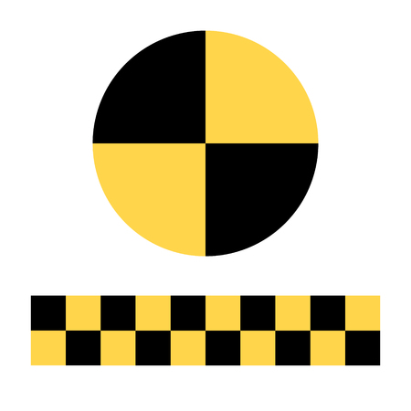 래스터 그림 충돌 테스트 인형 기호, 기호, 흰색 배경에 고립 된 아이콘
