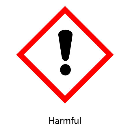 Raster illustration GHS hazard pictogram - harmful , hazard warning sign harmful icon isolated on white background