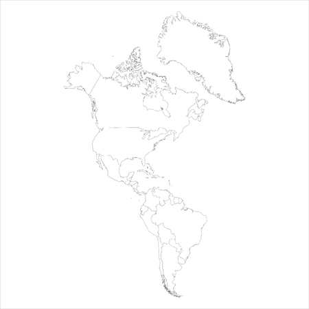 North And South America Map Black And White Stock Photo ... on map of america map, drawing mexico map, united states of america map, drawing canada map, drawing france map,