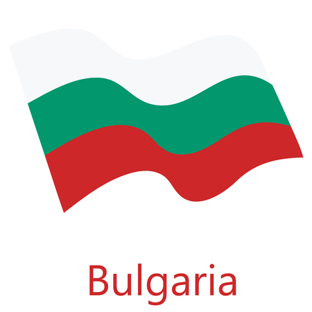 Vector illustration waving flag of Bulgaria icon