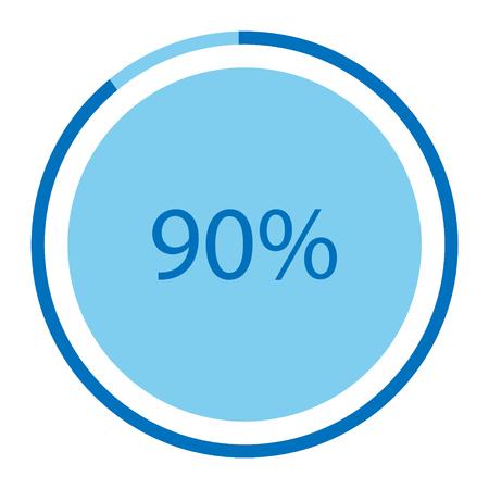 A Vector illustration blue round isolated on plain background. Illustration