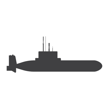 Illustration of a submarine icon on a white background Vettoriali
