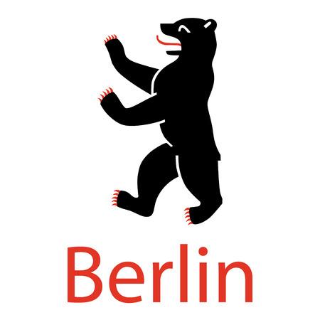 Vector Illustration Symbol Of Berlin Germany Bear Isolated On