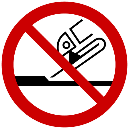 Prohibition sign - Do not use for face grinding