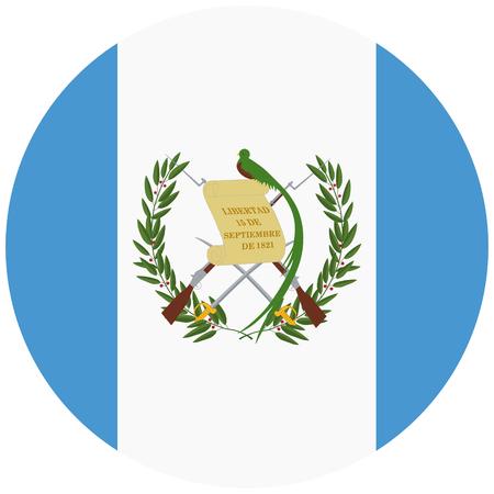 A Vector round flag Guatemala. National flag Republic of Guatemala