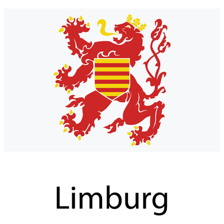 Vector national Flag of Limburg Province, Belgium.