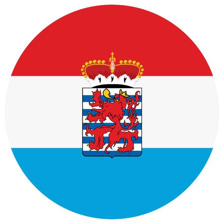 Een vector nationale vlag van de provincie Luxemburg, België Vector Illustratie