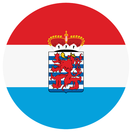 A Vector national flag of Luxembourg Province, Belgium Illustration