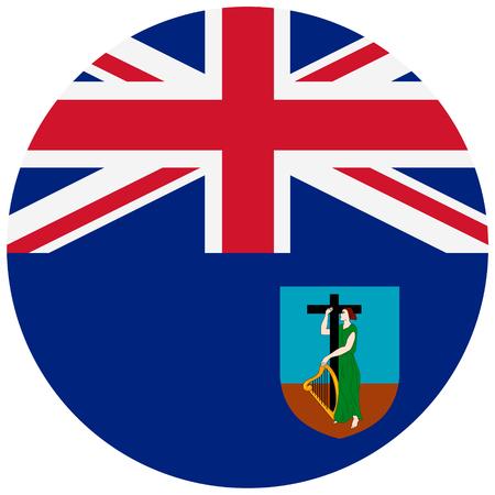 Vector round national flag of Montserrat.