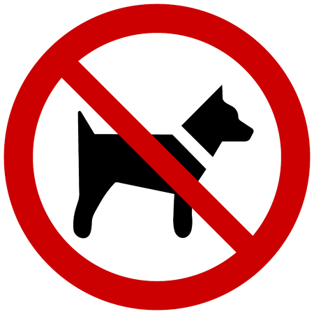 Vector no dog sign isolated on white background 일러스트