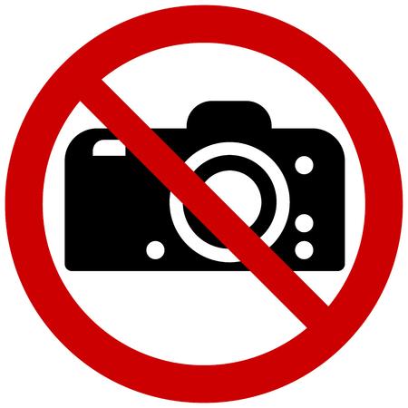 禁止サインベクトル - 写真撮影なし
