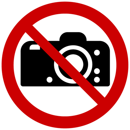 Prohibition sign vector - no photography
