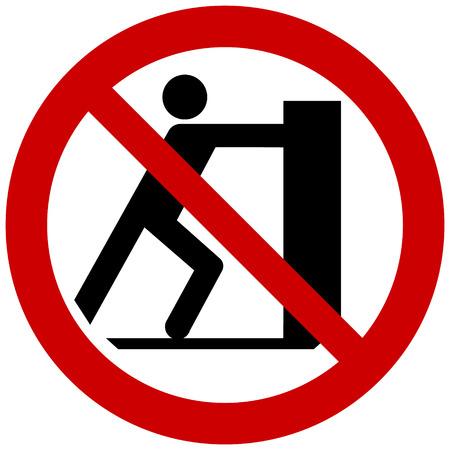Prohibition sign vector - no pushing, do not push Vettoriali